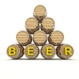 Several barrels of beer drink storage Stock Images