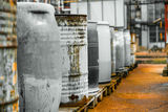 Several barrels Royalty Free Stock Photography