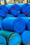 Several barrels of toxic waste Royalty Free Stock Photography