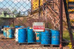 Several barrels of toxic Royalty Free Stock Images