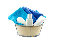 Several bath products in small tube Stock Photography