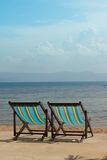 The several beach chairs Stock Photography