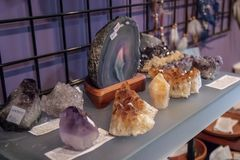 Several Beautiful Healing Crystal Specimens stock images
