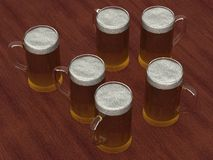 Several beer glasses Royalty Free Stock Image