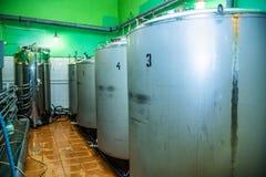 Several big metal boilers stock photography