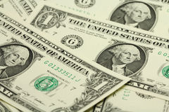 Several bills in one American dollar Royalty Free Stock Image