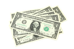 Several bills in one US dollars Royalty Free Stock Photo