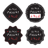Several black friday sale badge and label set. Vector Illustration EPS10 Royalty Free Stock Photo