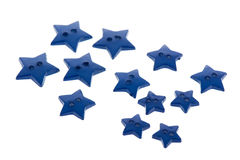Several blue buttons in star shape Stock Image