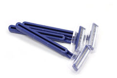 Several blue razors Stock Images