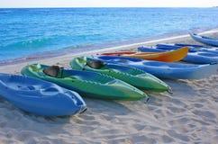 Several Boats on Shore Royalty Free Stock Photos