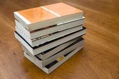 Several books on a table Royalty Free Stock Photo