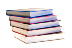 Several books together. Photographed by an over white Stock Image