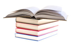 Several books together. Photographed by an over white Stock Photos