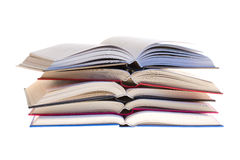 Several books together. Photographed by an over white Royalty Free Stock Image