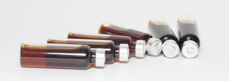 Several bottles of liquid medicine Royalty Free Stock Photography