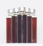 Several bottles of liquid medicine Royalty Free Stock Photo