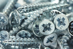Several brilliant construction screws Stock Image