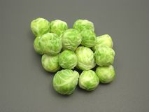 Several Brussels sprouts Stock Photo