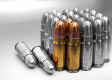 Several bullets. Caliber 7.62mm Royalty Free Stock Photography