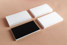 Several business cards Stock Images
