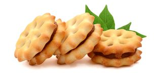 Biscuits. Several butter biscuits. Cookie, biscuit royalty free stock images