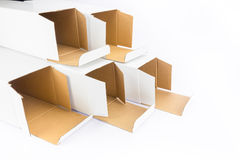 Several cardboard boxes as group together Royalty Free Stock Photography