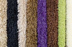 Several carpet samples Stock Photos