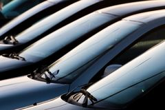 Several Cars Parked Stock Photography