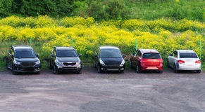 Several cars parked. Stock Photography