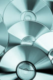 Several CD and DVD discs Stock Image