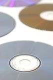 Several cd's. Isolated over white with selective focus on foreground Stock Image