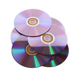 Several CDs underlying Royalty Free Stock Photos