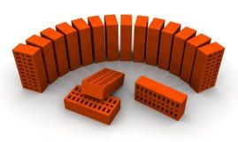 Ceramic bricks. Several ceramic bricks on a white surface. Isolated. 3D Illustration vector illustration