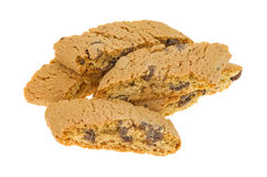 Several chocolate chip cantuccini biscuits Stock Photos