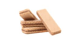 Several chocolate wafers. Royalty Free Stock Image