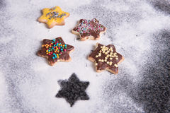 Several christmas cookies ready to eat in advent Stock Images