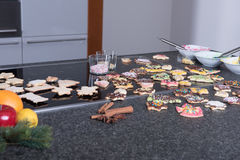 Several christmas cookies ready to eat in advent Stock Photography