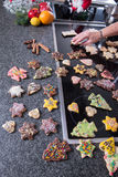 Several christmas cookies ready to eat in advent Royalty Free Stock Images