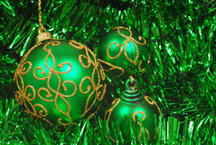 Several Christmas ornaments Stock Photos