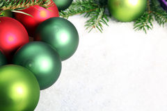 Several Christmas ornaments Stock Photography