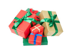 Several christmas presents Stock Images