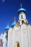 Several churches in Trinity Sergius Lavra, Sergiev Posad, Russia. UNESCO World Herit Royalty Free Stock Images