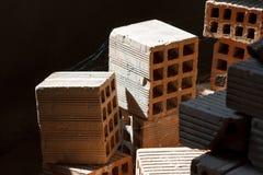 Several clay bricks Stock Photography