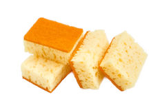 Several cleaning sponges on a light background Royalty Free Stock Photos