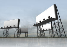 Several clear billboards construction Stock Photography