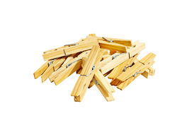 Several clothespin Stock Photography