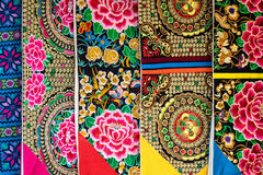Colored fabric Stock Image