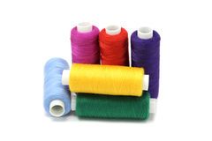 Several coils with color threads Royalty Free Stock Photo