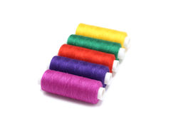 Several coils colored thread Royalty Free Stock Images